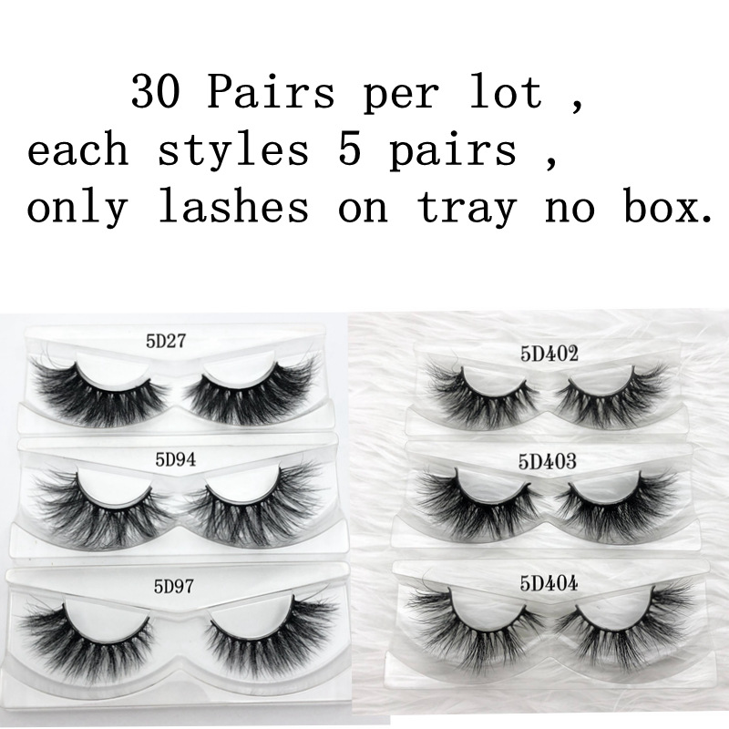 Mikiwi 30Pairs Per Pack Wholesale 3D Mink Eyelashes Only Tray No Box Mink Lashes  Volumn Individual Dramatic Lashes