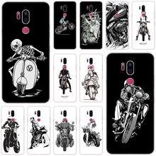 De dibujos animados bien Biker caso para LG G5 G6 Mini G7 G8 G8S V20 V30 V40 V50 ThinQ Q6 Q7 q8 Q9 Q60 W10 W30 Aristo X Power 2 3