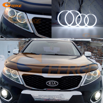 For KIA SORENTO II 2009 2010 2011 2012 2013 Excellent CCFL Angel Eyes kit Halo Ring Ultra bright illumination for ford c max mki 2008 2009 2010 xenon headlight excellent angel eyes ultra bright illumination ccfl angel eyes kit halo ring
