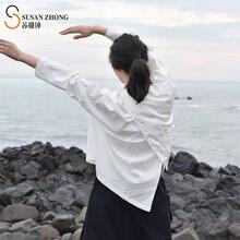 Женские рубашки женские блузки топы с длинным рукавом минималистичный