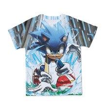 Yaz yeni 3D Sonic kirpi erkek giyim T Shirt ilginç karikatür T gömlek yakışıklı sokak twear rahat o-boyun giyim
