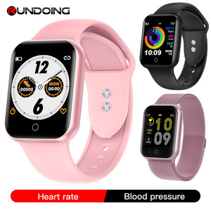 Image 1 - RUNDOING NY07 women smartwatch Waterproof Blood pressure Heart rate fitness tracker male sport smart watch For Android IOS