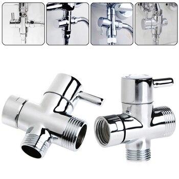 New T-adapter 3 Ways Valve For Diverter Bath Toilet Bidet Sprayer Shower Head 3 ways shower diverter valve g1 2 three way t adapter valve for toilet bidet or handheld shower head