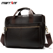 European and American head cowhide business men hand-held briefcase simple solid color oblique span single shoulder bag career men s briefcase with solid color and zipper design