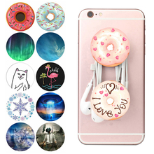Popsoket Round Donut Pops Phone Holder попсокет Cute Kids Girls Lovely Expanding Finger Ring Grip Stand Pipsocket pocket socket-in Phone Holders & Stands from Cellphones & Telecommunications on AliExpress