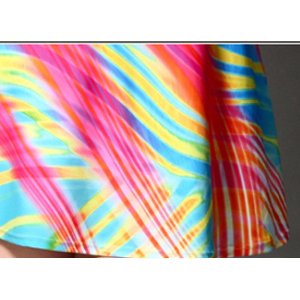 2019 Europe And America Women's Sexy Split Skirt-Swimwear Large Size Article Rainbow Bathing Suit