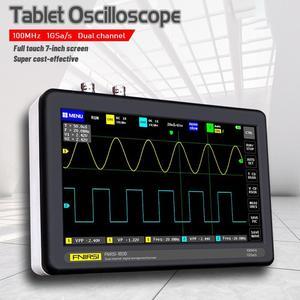 FNIRSI-1013D Digital tablet oscilloscope dual channel 2CH 100M bandwidth 1GS sampling rate mini tablet digital oscilloscope