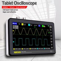 Osciloscopio Digital FNIRSI-1013D para tableta, doble canal, 2 canales, 100M, ancho de banda, 1GS, tasa de muestreo, mini tableta, osciloscopio digital