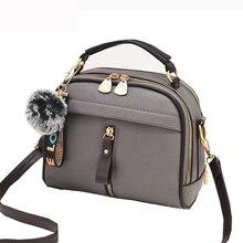 Designer Women Shoulder Bags Crossbody Bag For Women Handbag PU Leather Full Moon Candy Color Cute With Fur Ball shell shape bag