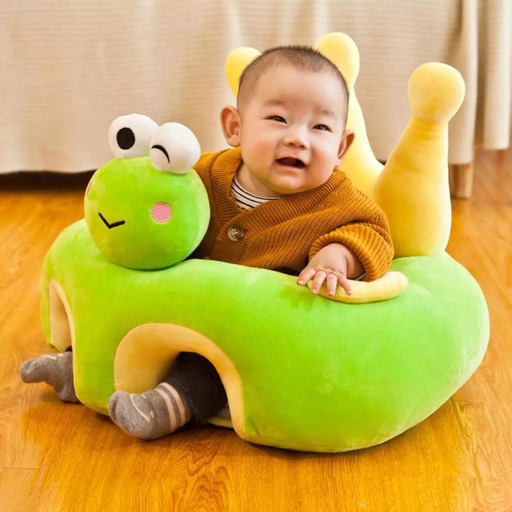 50*50cm Baby Sofa Support Seat Cover Plush Chair Learning To Sit Comfortable Toddler Nest Puff Washable Cradle Sofa Chair