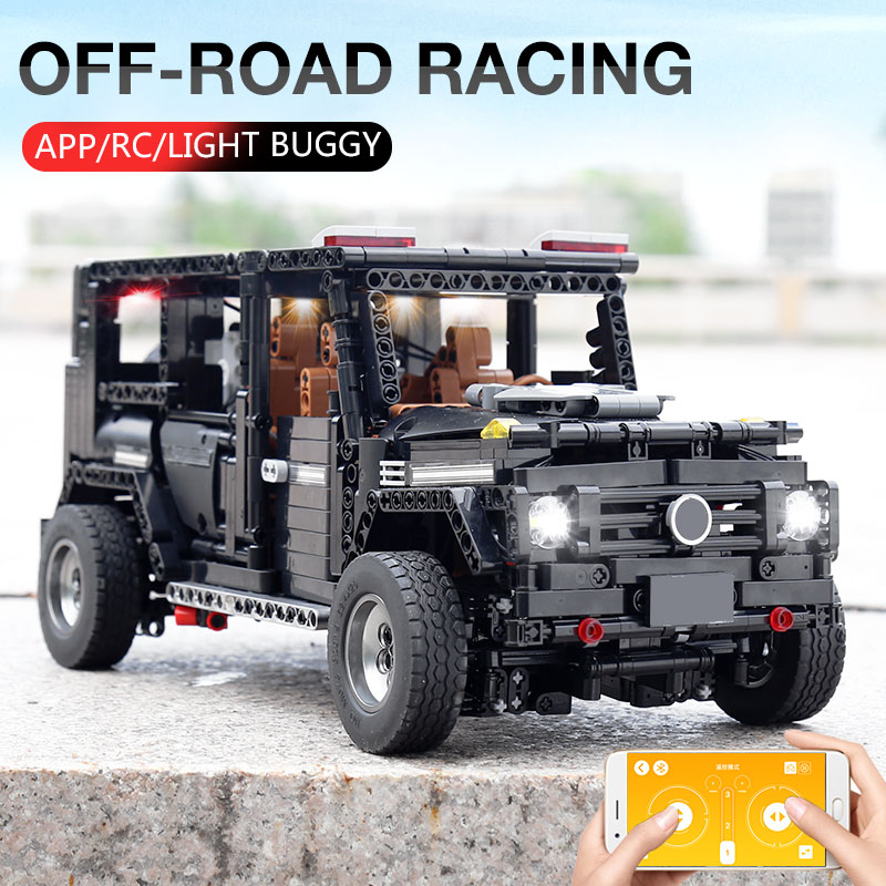 New APP RC G-Glass G500 AWD Wagon SUV Vehicle Fit Technic MOC 2425 Motor Power Function Building Blocks Bricks Toy Kid Birthday 2