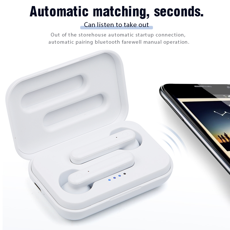 W100  Wireless Bluetooth Earphone v5 0 with 3d Stereo Microphone For Android all Phones Mini Bluetooth Earbuds Headset Sport