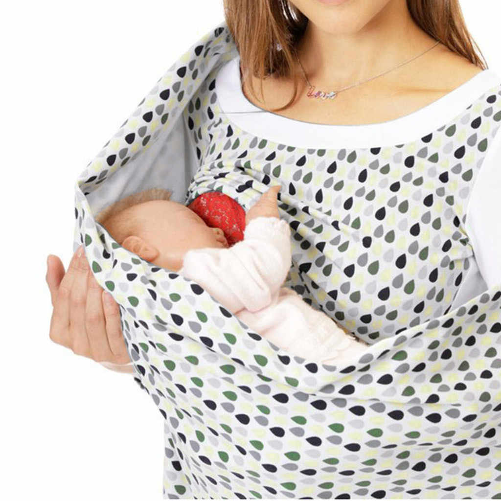 Vrouwen Moederschap Sweatshirt Zeven Mouwen Print Patchwork Borstvoeding Verpleging Jumper Kraag Zwangere Vrouwen Trui