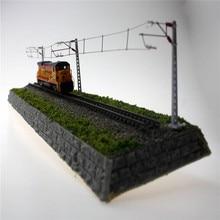Train Model Single Column Single Arm Contact Network Railway Model Train Simulation Miniature Sand Table Accessories Toy Scene