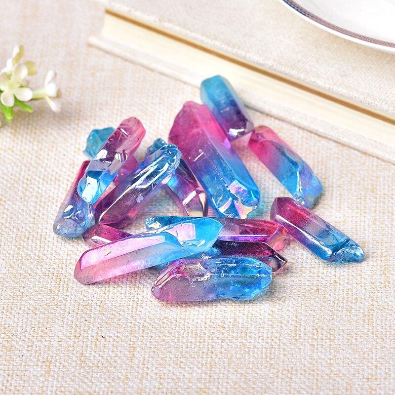 50 г Гальванизированный Красочный Кристалл в виде палочки, точечные кристаллы, лечебный энергетический кристалл, натуральные камни и минера...