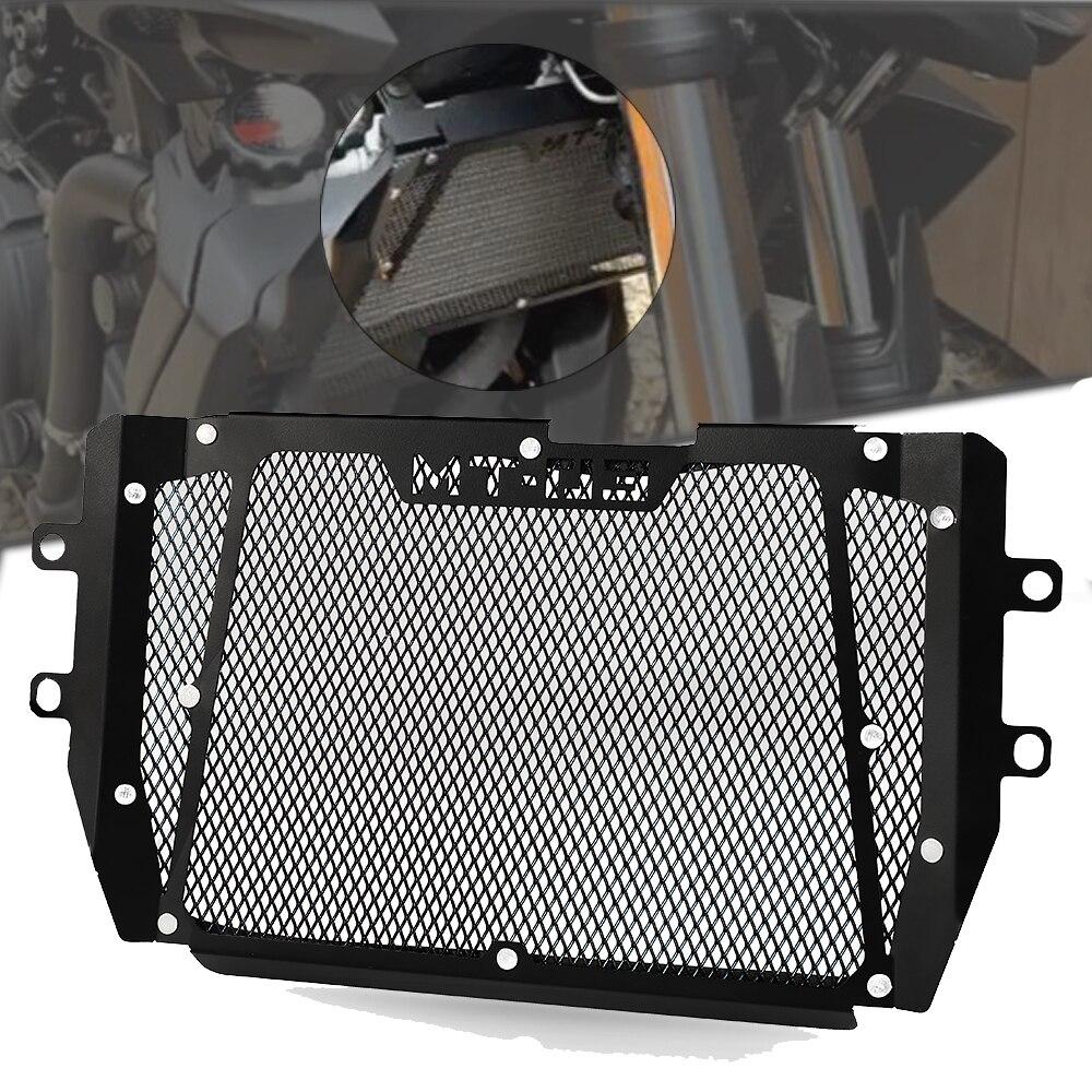 Para yamaha MT-03 mt03 mt 03 2015 2016 2017 2018 2019 2020 2021 motocicleta de alumínio grade do radiador grill guarda capa protector