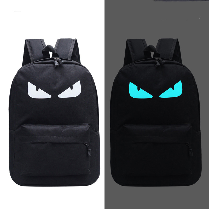 Cute Backpack Luminous Backpack Animation School Bags For Boy Girl Teenager USB Student Bags Men Reflective Leisure Shoulder Bag