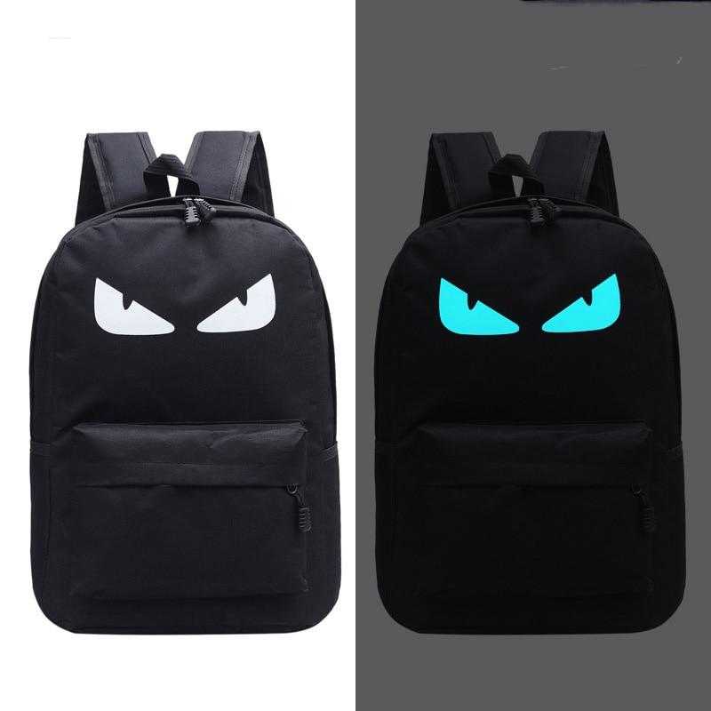 Cute Backpack Luminous Backpack Animation School Bags For Boy Girl Teenager USB Student Bags Men Reflective Leisure Shoulder Bag
