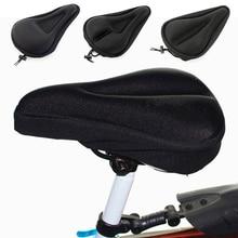 3D мягкий силиконовый чехол на сиденье для велосипеда, дышащее велосипедное седло, утолщенная подушка на сиденье для горного велосипеда, велосипедное седло, Аксессуары для велосипеда