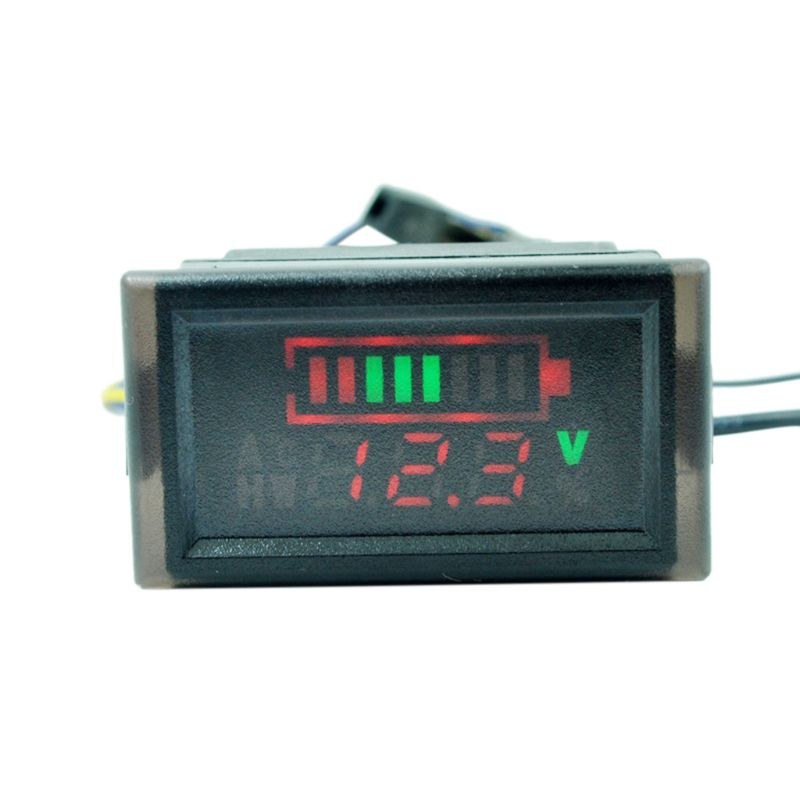 Waterproof Voltmeter Battery Capacity Indicator For Electric Scooter Bike 6-120V