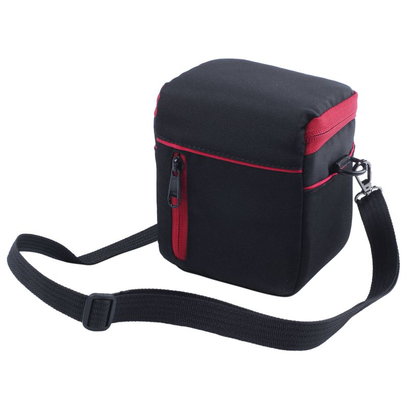 Camera Case Bag Shoulder Bag For <font><b>Canon</b></font> <font><b>Powershot</b></font> SX720 SX420 SX150 SX160 SX170 SX50 SX520 SX510 SX500 <font><b>SX410</b></font> Black+Red image