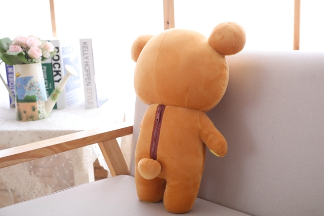 Plush doll Couple Pendant Cartoon cute teddy Brown bear soft Stuffed toy For girlfriend gifts Decoration Uncategorized Decoration Stuffed & Plush Toys Toys
