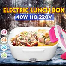 1.5L Portable Rice Cooker Electric Food Heating Lunch Box Warm Heater Storage Container Home Office 12V 110V 220V Car/EU/US Plug
