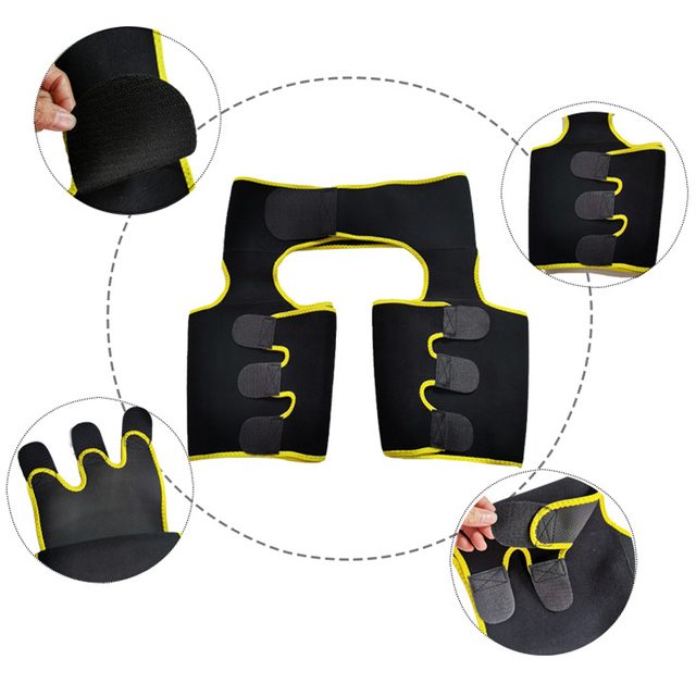 Women Sweat Waist Sport Girdle Belt Booty Hip Enhancer Lift Butt Lifter Shaper Waist Trainer Thigh Trimmers For Women Men 4