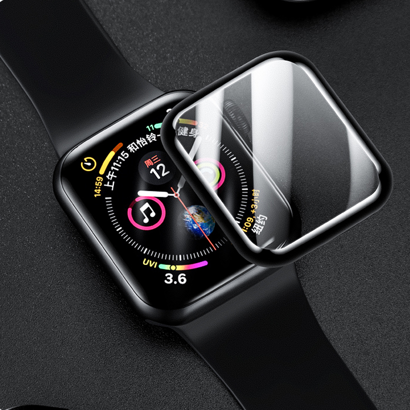 Screen Protector Film For Apple Watch Band 4 5 Iwatch Band 42mm 38mm 44mm 40mm 3D Full Coverage Curved Surface Tempered Glass 44
