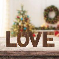 사랑/가족 독립 기념일 장식 목조 편지 로그인 소박한 홈 거실 침실 장식 웨딩 집들이 gift1
