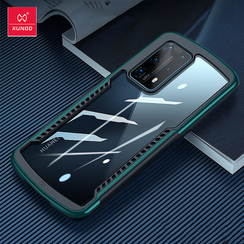 Xundd Shockproof Case For Huawei P40 Case Protective Cover Airbag Bumper Soft Back Ring Transparent For Huawei P40 Pro Plus Case