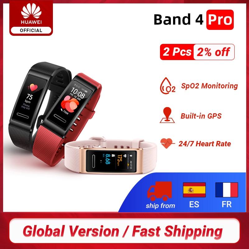 Global Version Huawei Band 4  Pro GPS Amoled 0.95' Metal Material Test Heart Rate Sensor Sleep Bracelet