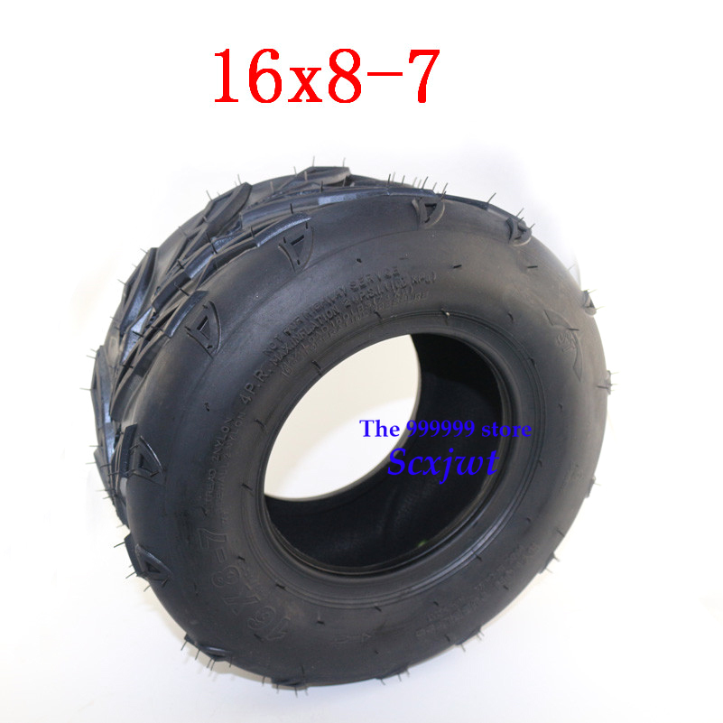 16x8-7 Tubeless Tire fits Beach Car Go Kart UTV Quad Bike buggy Utility Vehic 16x8-7 vacuum tyre for 70cc 90cc 110cc 125cc