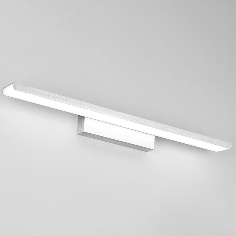 16W Bathroom Mirror Headlights LED Bathroom Acrylic Moisture-Proof Lamp Simple Bathroom Aluminum Mirror Lighting