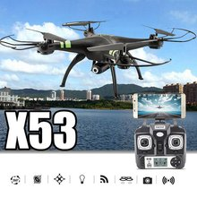 X53 Wifi FPV Quadcopter Auto-Takeoff Remote Model Airplane Drone Camera 720P HD 30W Pixels Without Memory Card RC Kids Toy
