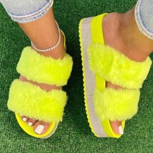 Women's Slippers Fur Plush Sho