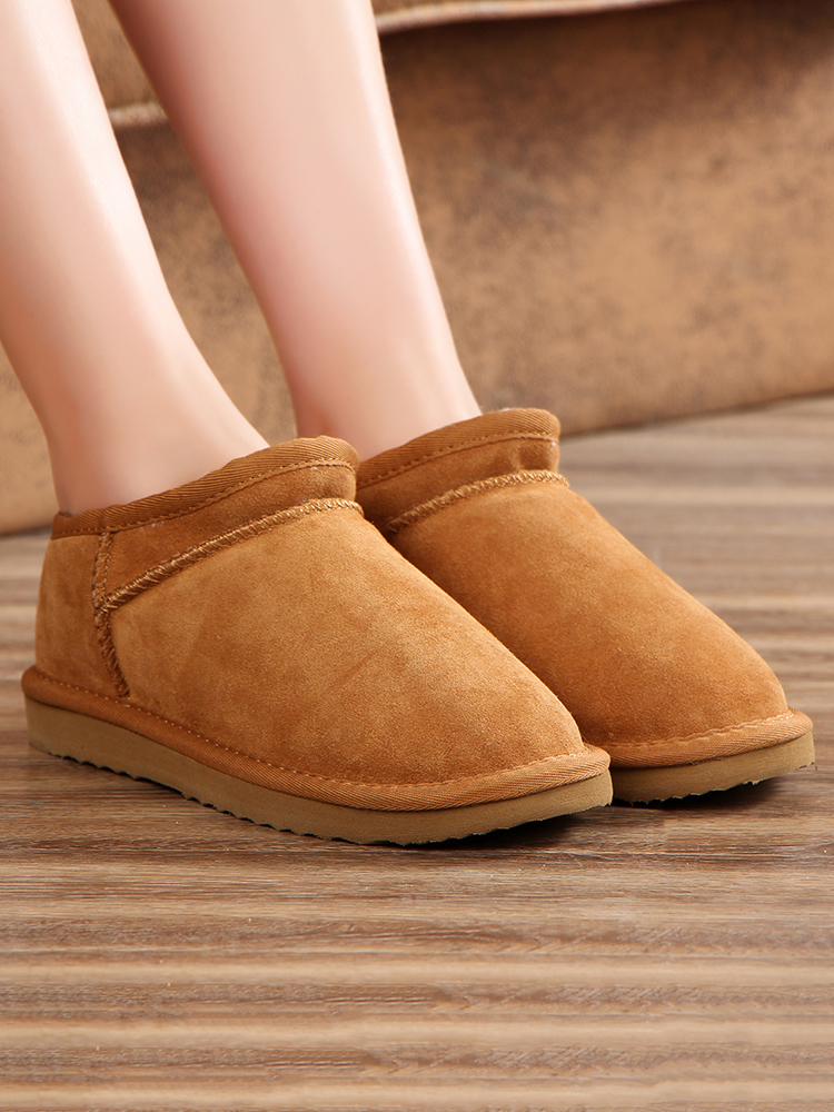 Flats Ankle-Boots Classic-Style Australia Warm Large-Size Winter Mbr-Force Women Warterproof