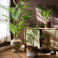 125 см тропические пальмовые растения, большие искусственные ветки дерева, пластиковые искусственные листья, зеленые монстеры для дома, сада...