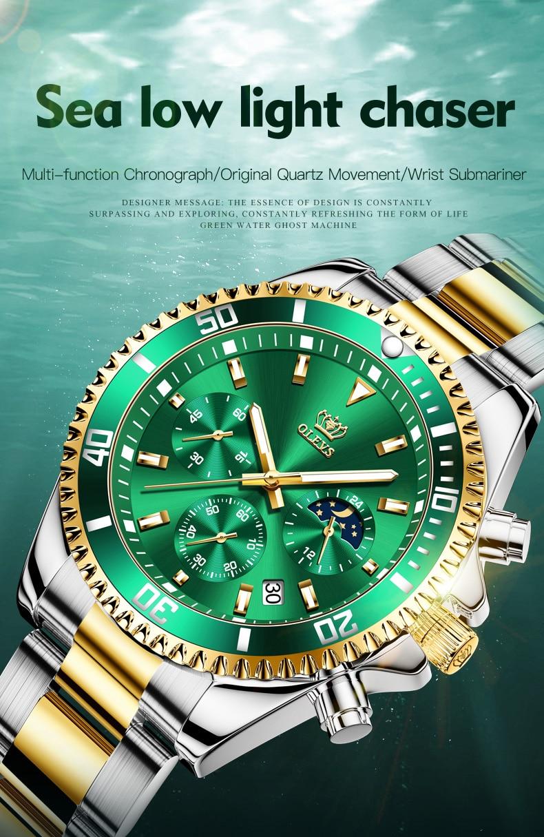 Relógio masculino topo marca de luxo melhor-venda