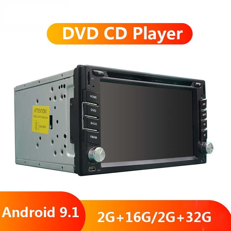 "6.2 ""Android 9.1 2 DIN รถ DVD Multimidia Video Player OCTA Core 2G + 32G 2DIN Universal วิทยุอัตโนมัติ Autoradio GPS WIFI 4G FM AM"