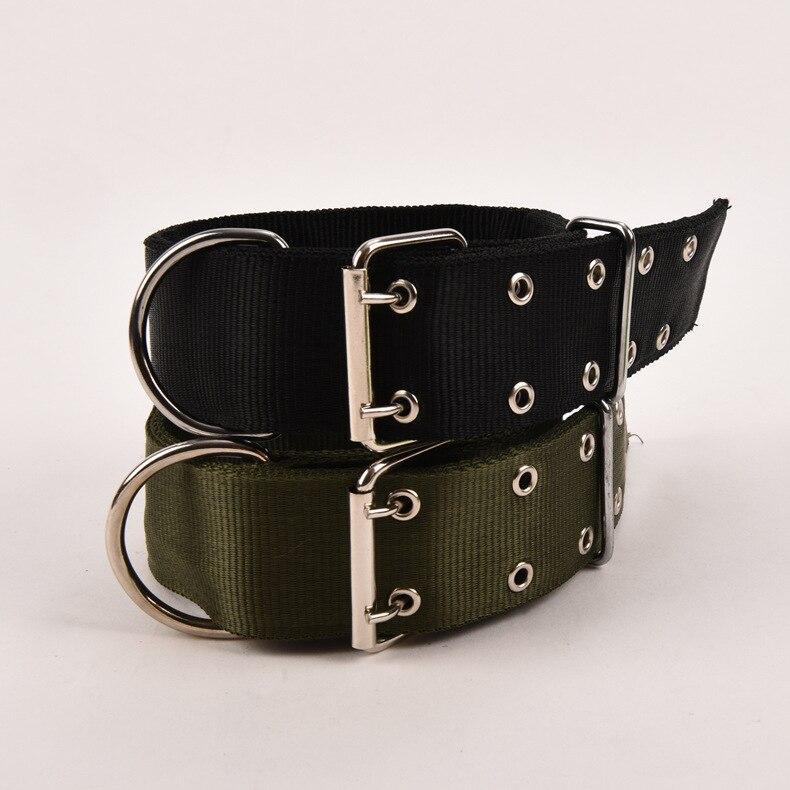 Durable Canvas Dog Collar Collar Dog Collar And Medium-sized Dog Golden Retriever German Shepherd Bit Husky Satsuma Bandana