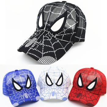 Nowy Disney Marvel Spiderman dziecięca czapka z daszkiem Spiderman Avengers 2021 letnia czapka z siateczką chłopcy dziewczęta dziecięce czapki regulowane tanie i dobre opinie CN (pochodzenie) 4-6y 7-12y COTTON Adjustable Unisex W stylu rysunkowym baby 13-18 miesięcy 19-24 miesięcy spiderman caps for kids