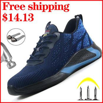 2020 moda stalowe buty z palcami buty robocze bhp mężczyźni pracują trampki męskie buty przeciw rozbiciu budowa obuwie przemysłowe praca tanie i dobre opinie Quanzixuan Pracy i bezpieczeństwa CN (pochodzenie) Mesh (air mesh) ANKLE Mieszane kolory Dla dorosłych Okrągły nosek