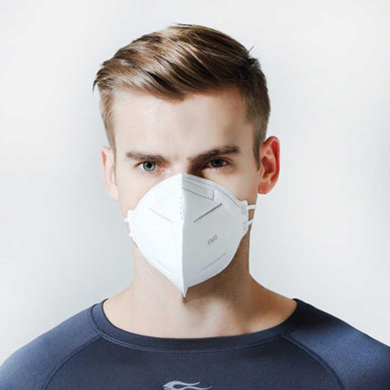 Máscara facial antipolvo antibacteriana N95 de 50 Uds., máscara de 4 capas PM2.5 a prueba de polvo, protección 95% filtración KN95, cubierta de mufla bucal