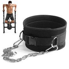 Correia do mergulho do levantamento de peso com o apoio resistente chain do núcleo para o halterofilismo da aptidão puxar acima a correia da cintura da carga do treinamento da força