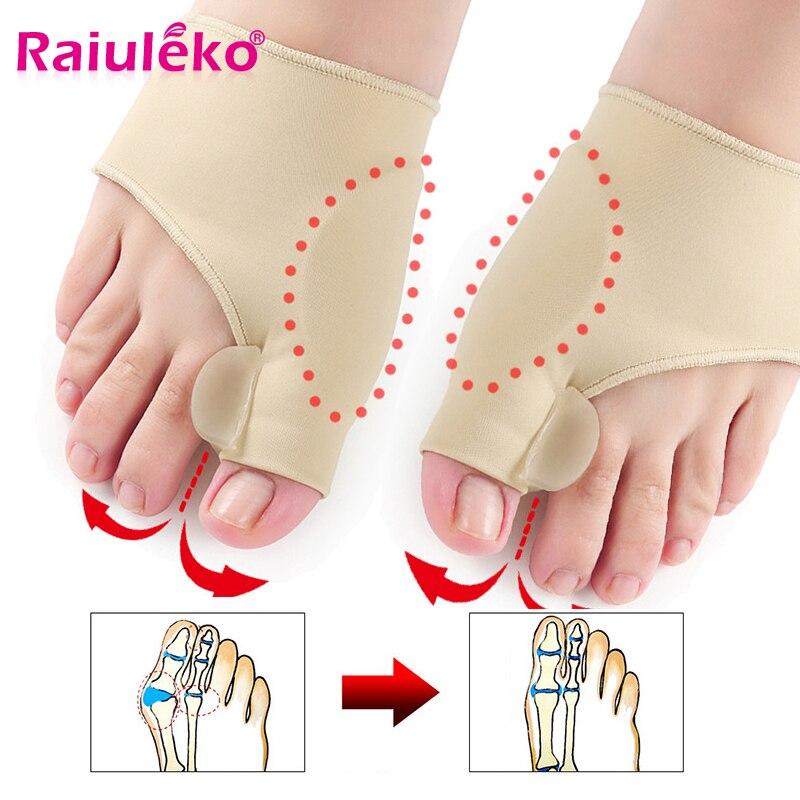2pcs=1Pair Toe Separator Hallux Valgus Corrector Feet Bone Thumb Adjuster Toe Separator Pedicure Socks Pain Relief Bunion Device