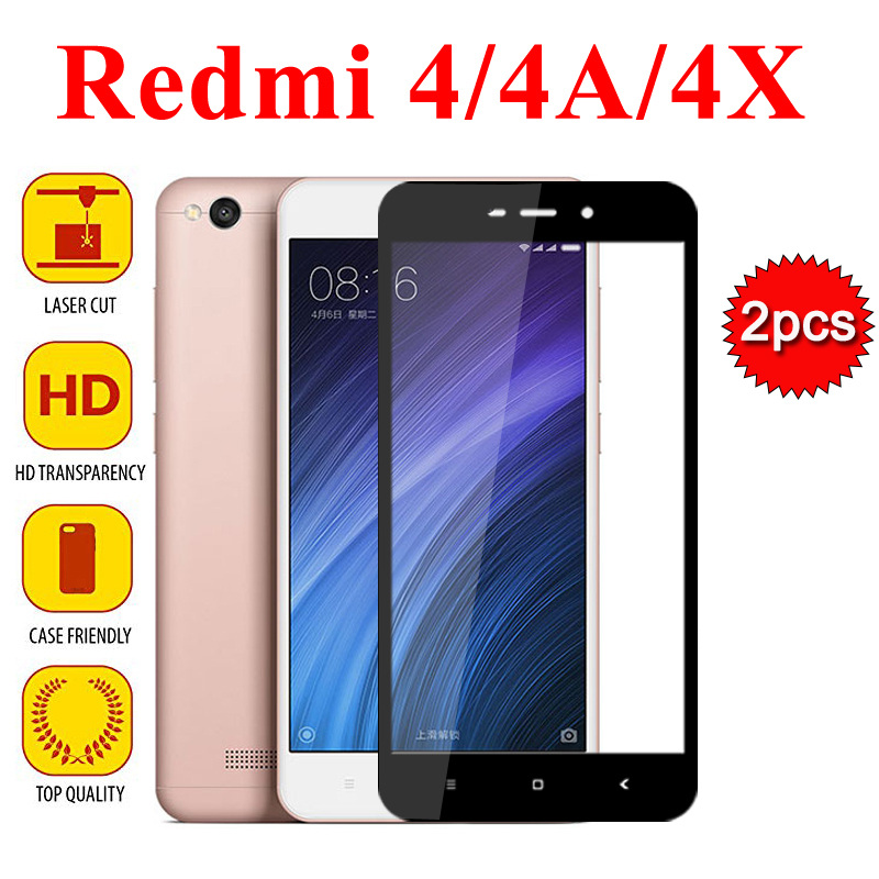 2pcs Redmi 4x Protective Glass For Xiaomi Redmi Note 4 4a Pro Tempered Glass Screen Protector Xiomi Red Mi 4 X Toughened Film