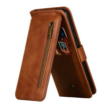 Multifunction Card Slot Zipper Leather for Samsung Galaxy S10 Lite Case Samsung S10 Lite Coque S10Lite Wallet Cover Shockproof