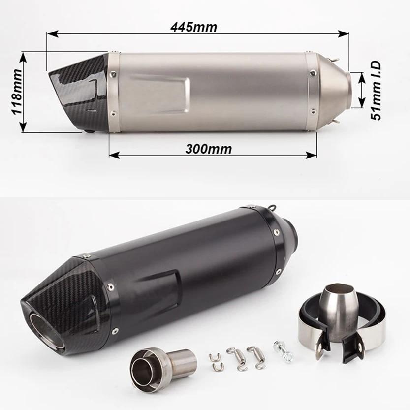 universal modified motorcycle exhaust pipe for leovince slip on fz1duke690 motorcycle muffler er6n er6r r6 ninja650 rc390