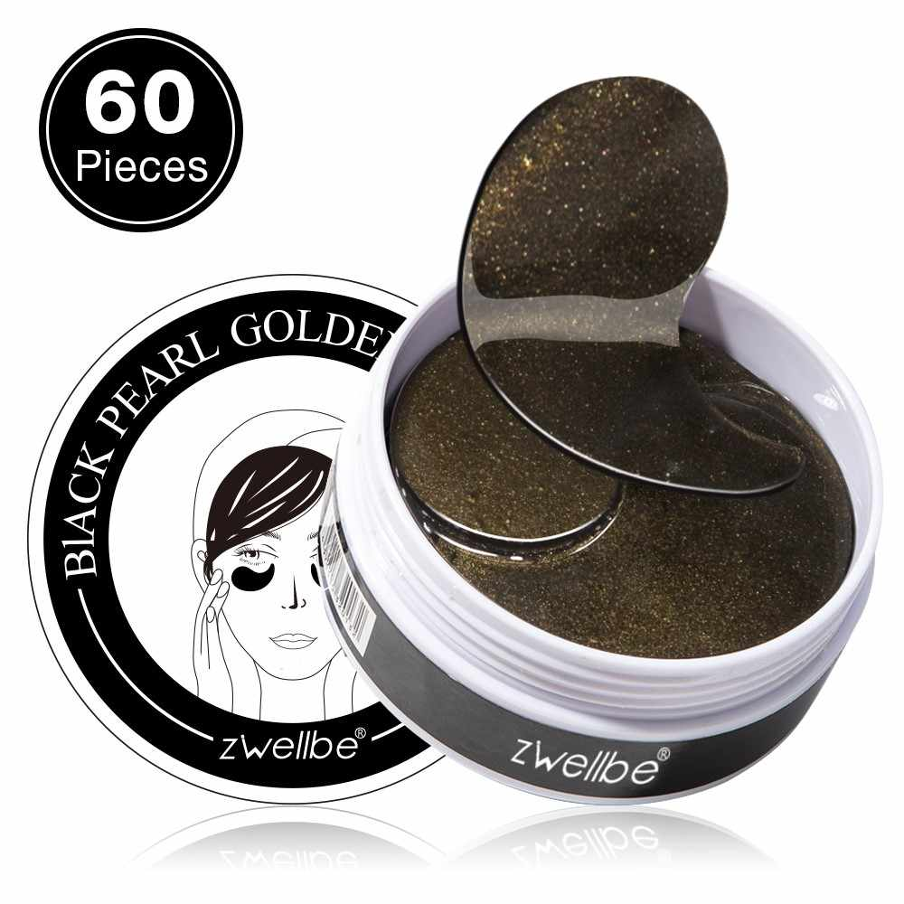 Black Pearl Golden Eye Masks 60pcs Hydrogel Patches Repairing Wrinkle Remover Dark Circle Anti Age Moisturizing Under Eye Mask